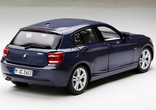 Deep Blue Paragon 1:18 Scale Diecast BMW 1 Series Model
