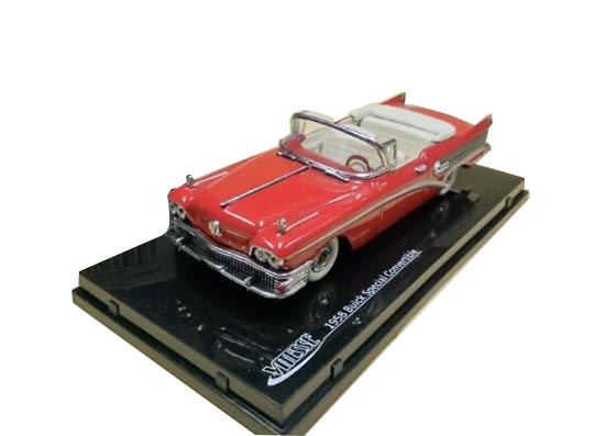 1:43 Gray/ Red 1958 Diecast Buick Special Convertible Model