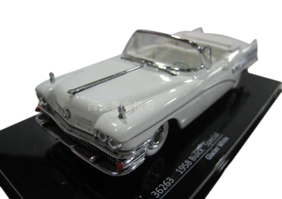 1:43 Scale Blue /White Diecast Buick Special Convertible Model