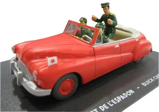 1:43 Scale Red Eligor Diecast Buick Cabriolet Model