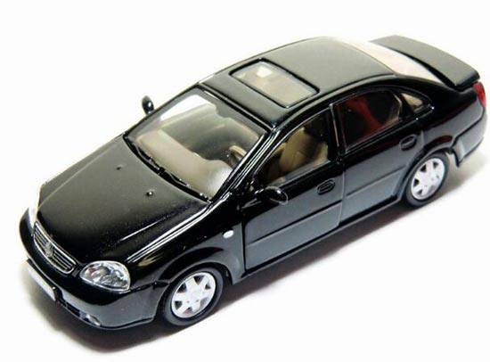 1:43 Scale Black / White Diecast Buick Excelle Model