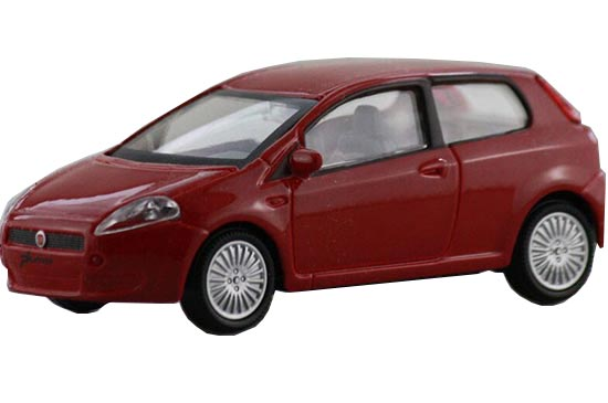 Red 1:43 Scale Mondo Motors Diecast Fiat Punto Model