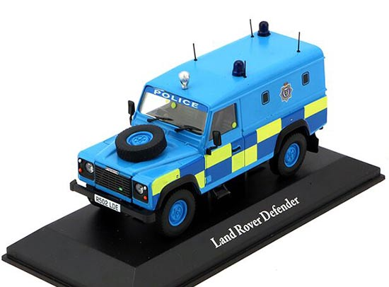 Blue 1:43 Scale Police Diecast Land Rover Defender Model