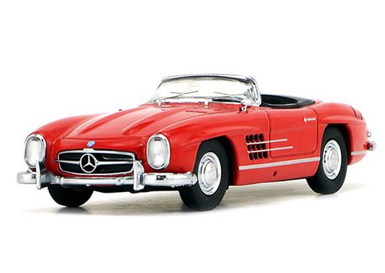 Red / Golden / Black / White Diecast Mercedes-Benz 300SL Model