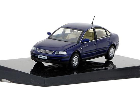 Red / White / Blue 1:43 Scale Diecast VW Passat Model