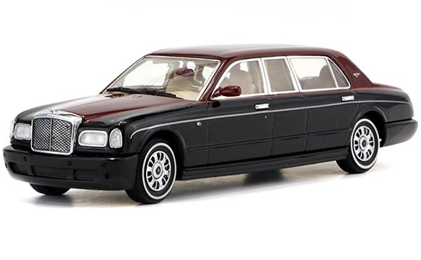 Wine Red-Black 1:43 Scale Diecast Bentley Arnage Model