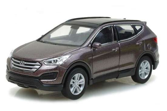 White / Gray 1:36 Scale Welly Diecast Hyundai SantaFe Toy