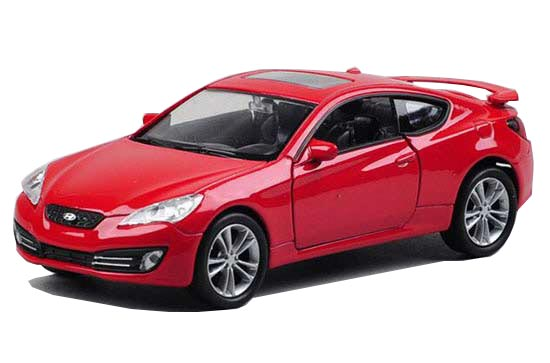 1:36 Scale Red Welly Diecast Hyundai Genesis Coupe Toy