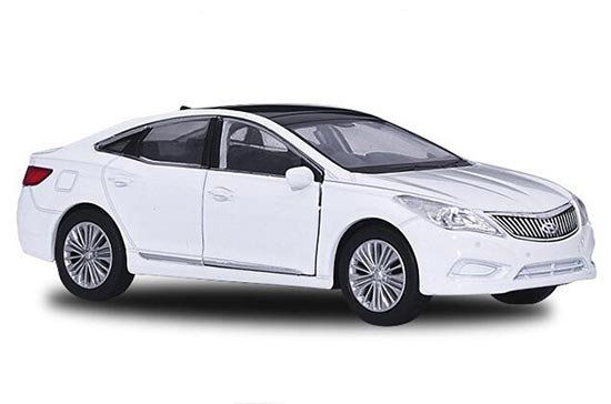 1:36 Scale White Welly Diecast Hyundai Grandeur Toy