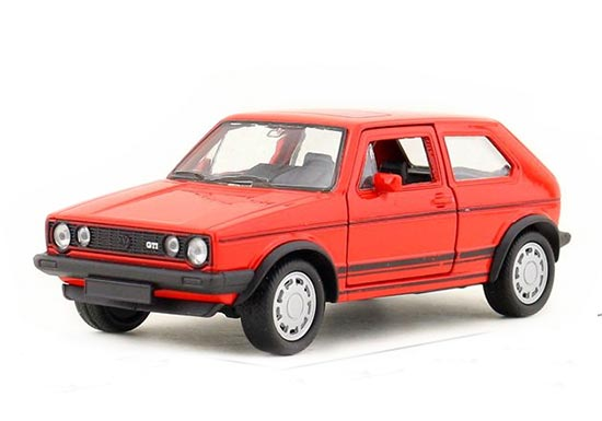 Kids 1:36 Scale Red Welly Diecast VW Golf GTI Toy