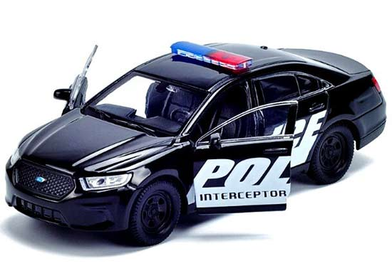 Kid Black 1:36 Scale Welly Diecast Ford Police Interceptor Toy
