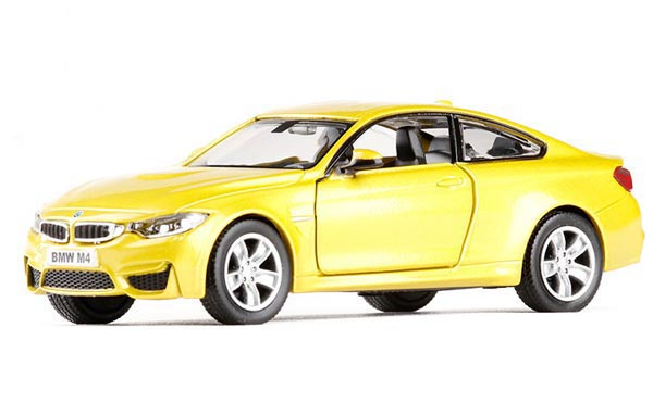 1:36 Scale Red / Yellow Kids Diecast BMW M4 Toy