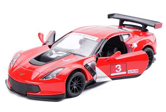 1:36 Scale Kids Diecast Chevrolet Corvette C7R Car Toy