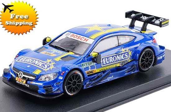 1:43 Blue Kids NO.2 Diecast Mercedes-Benz C63 AMG DTM Toy