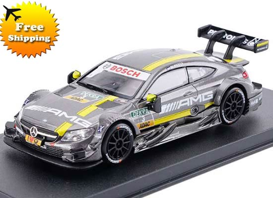 Gray 1:43 Kids NO.3 Diecast Mercedes-Benz C63 AMG DTM Toy