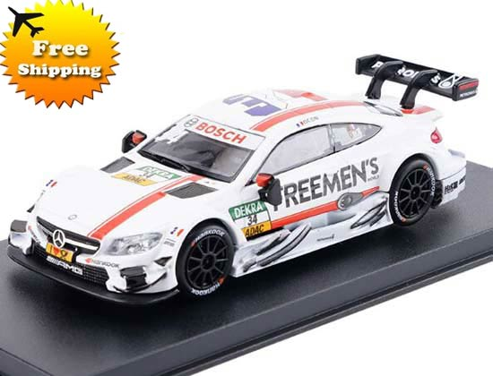 1:43 White NO.34 Diecast Mercedes-Benz C63 AMG DTM Toy