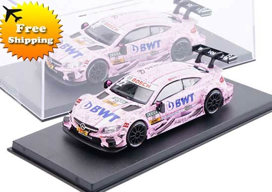 Pink 1:43 Scale NO.22 Diecast Mercedes-Benz C63 AMG DTM Toy