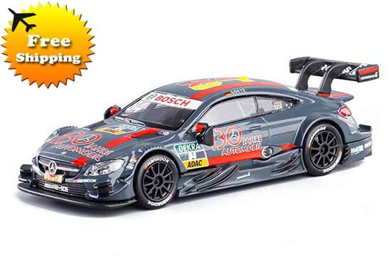 Dark Gray 1:43 NO.84 Diecast Mercedes-Benz C63 AMG DTM Toy