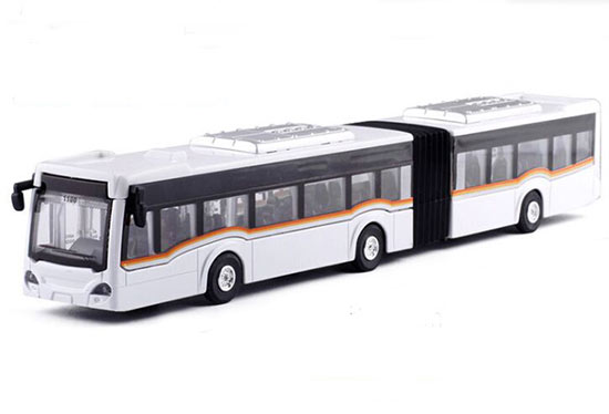 Kids Red / Blue / White / Yellow Diecast Articulated Bus Toy