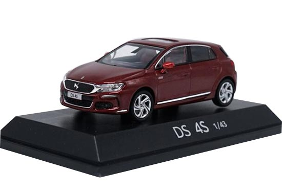 Red / White 1:43 Scale Diecast Citroen DS 4S Model