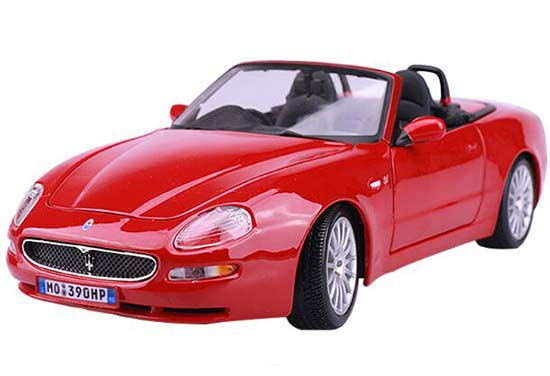 Bburago 1:18 Scale Red / Blue Diecast Maserati Spyder Model