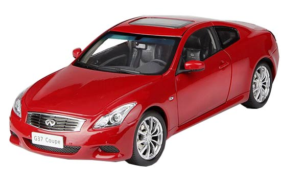 1:18 Scale White / Gray / Red Diecast Infiniti G37 Coupe Model