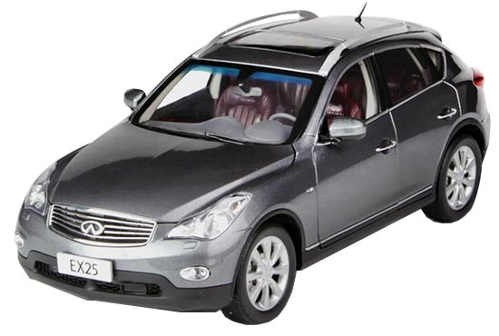 White / Gray / Red 1:18 Scale 2013 Diecast Infiniti EX25 Model