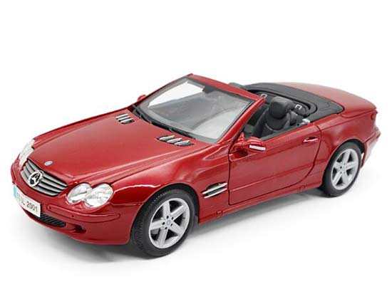 1:18 Wine Red Maisto Diecast Mercedes-Benz SL-Class Model