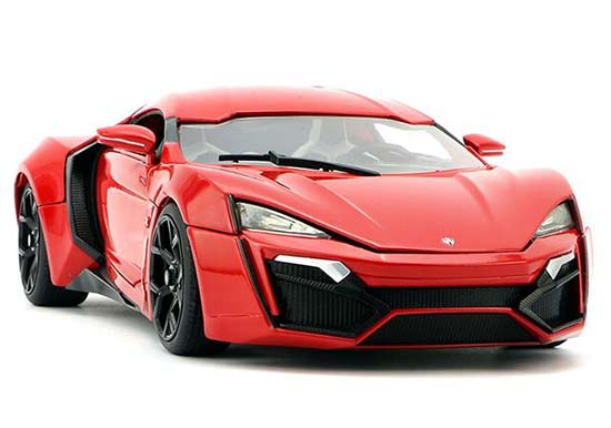 1:18 Scale Jada Red Diecast Lykan Hypersport Model