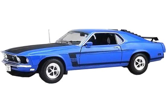 1:18 Scale Welly Diecast 1969 Ford Mustang Boss 302 Model