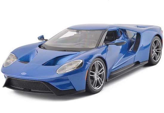 Red / Yellow / Blue 1:18 Maisto 2017 Diecast Ford GT Model