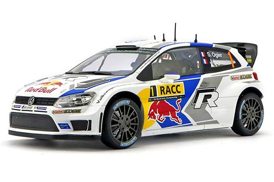 1:18 Scale White NOREV NO.1 Diecast VW Polo R WRC Model