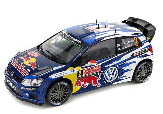 Blue 1:18 Scale NOREV NO.2 Diecast VW Polo R WRC Model