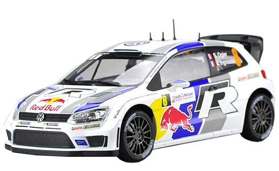 White 1:18 Scale NO.8 NOREV Diecast VW Polo R WRC Model