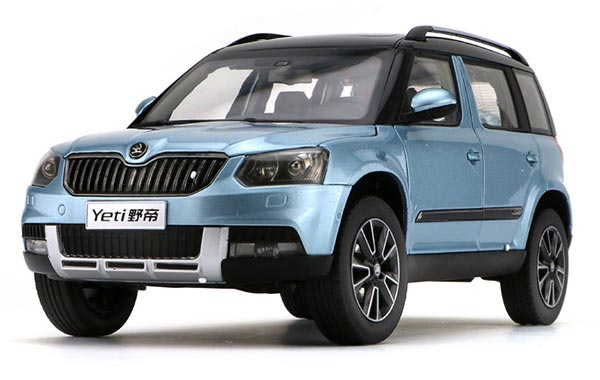 1 18 white blue brown gray diecast skoda yeti model. Black Bedroom Furniture Sets. Home Design Ideas