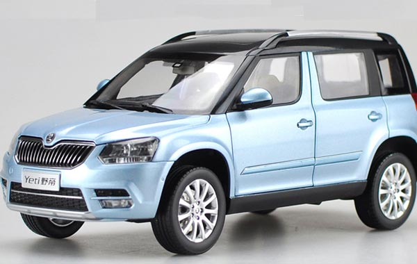 1:18 Scale Orange / Blue Diecast Skoda Yeti Model