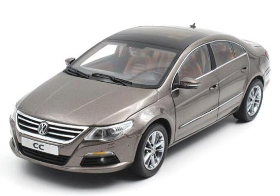 1:18 Scale Black / Golden / Blue Diecast VW CC Model