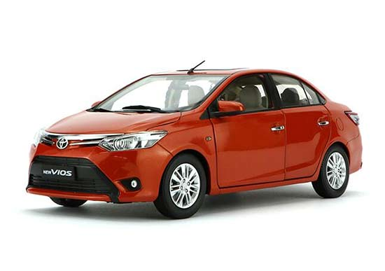 Black / Orange / Red / Blue Diecast Toyota New Vios Model