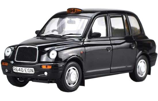 1:18 Scale Black Diecast London Taxi Model