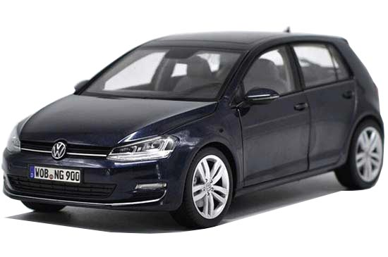 1:18 Scale Blue Norev Diecast VW Golf 7 Model