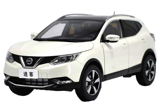 1:18 Scale White 2016 Diecast Nissan Qashqai Model