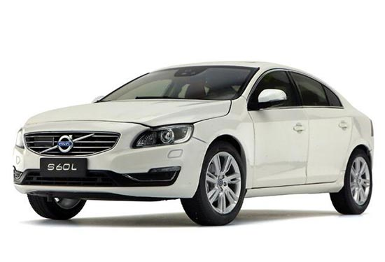1:18 Scale White / Silver Diecast Volvo S60L Model