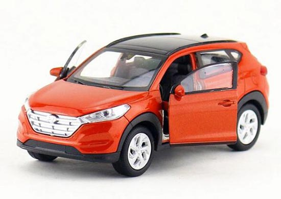 Welly 1:36 Scale White / Orange Diecast Hyundai Tucson Toy