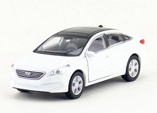 1:36 Scale Welly Kids White Diecast Hyundai Sonata Toy