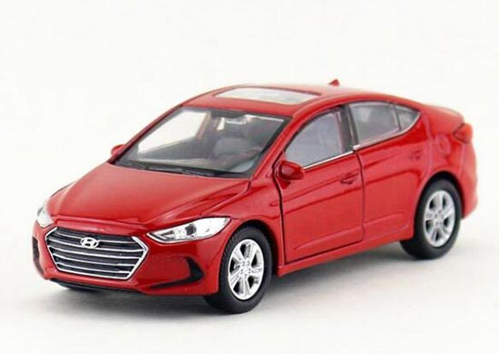 1:36 Scale Welly Red / Blue Kids Diecast Hyundai Elantra Toy