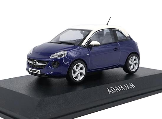 1:43 Scale Blue Diecast Opel Adam JAM Model