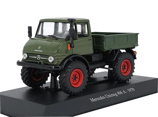 1:43 Deep Green 1970 Diecast Mercedes Benz Unimog 406 A Model