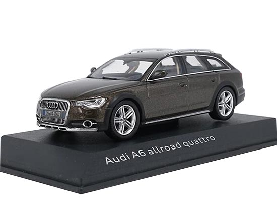 1:43 Scale Brown / Golden Diecast Audi A6 Allroad Quattro Model