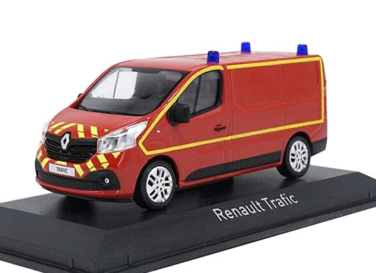 Red / White NOREV 1:43 Scale Diecast Renault Trafic Model