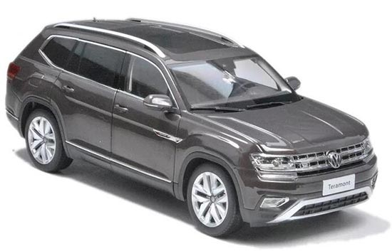 1:18 Scale Brown / Silver 2017 Diecast VW Teramont Model
